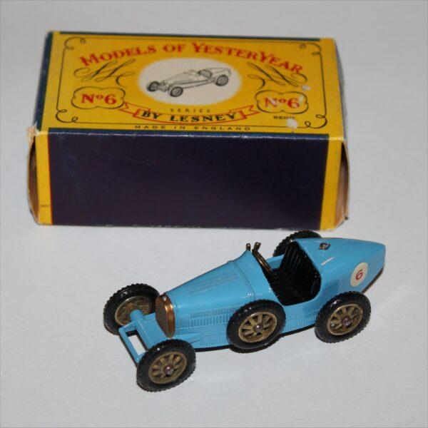 Matchbox Lesney Yesteryear 6b Bugatti Supercharged Type 35
