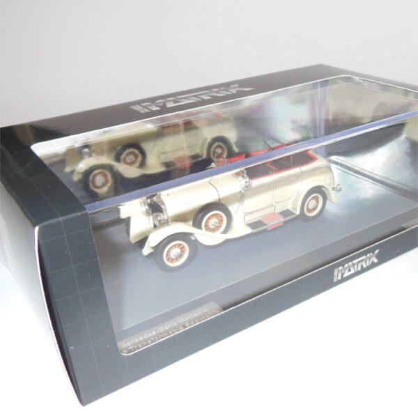 Matrix Models MX41302-191 Mercedes Benz Model K Torpedo Saotchik 1926 White