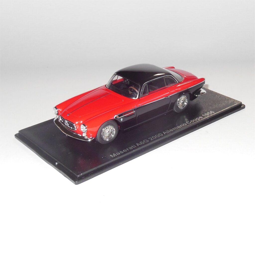 Neo Model 46560 Maserati A6G 2000 Allemano Coupe 1956 Black Red