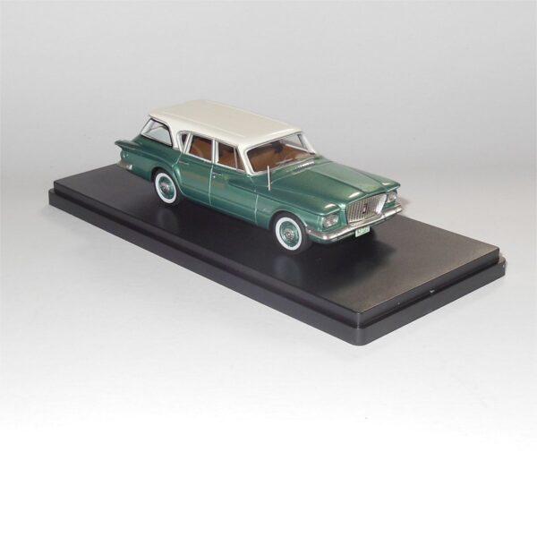 Neo Model 47115 Plymouth Valiant Station Wagon White Metallic Green
