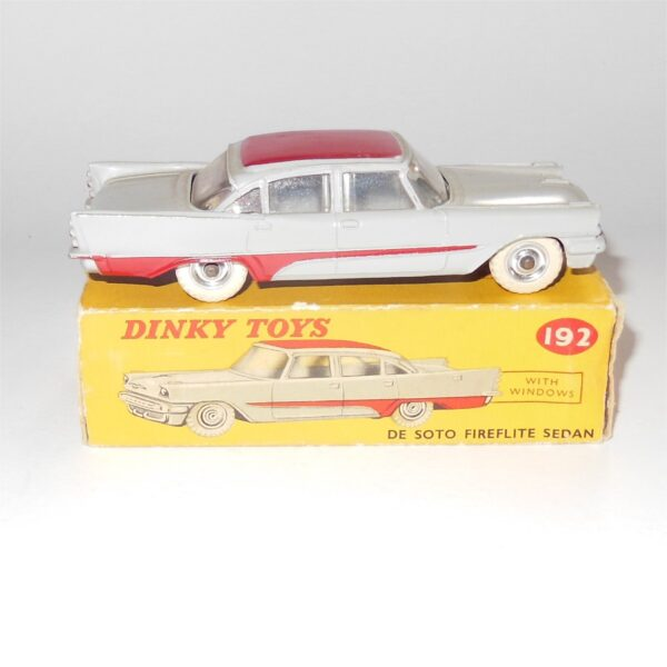 Dinky Toys 192 De Soto Fireflite Sedan Grey with Red Trim