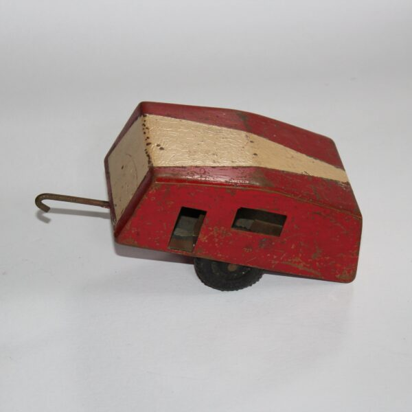 Set of 3 Hand Crafted Copper Toys - Trailer, Caravan and Hoist with Ramp