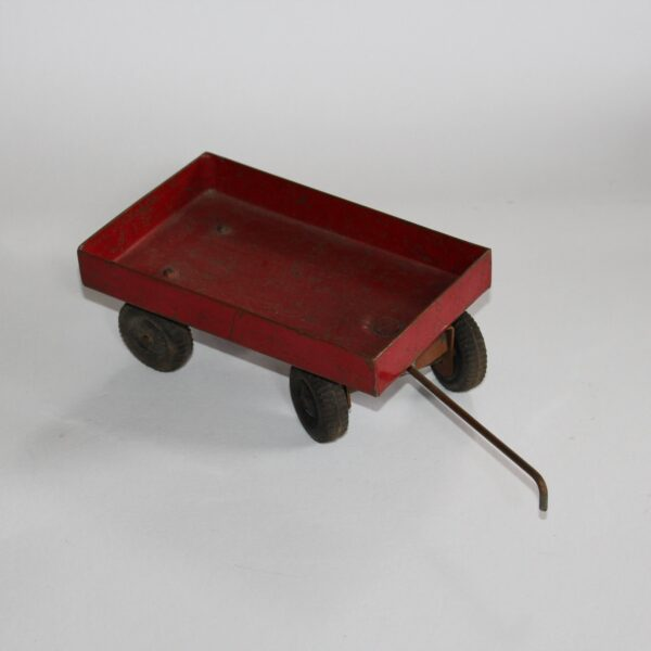 Set of 3 Hand Crafted Copper Toys - Trailer, Caravan, and Hoist with Ramp