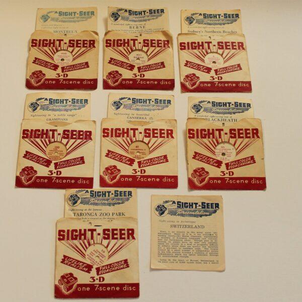 Australian Sight-Seer 3-D View-Master Style Reels x 7
