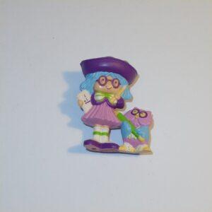 Strawberry Shortcake 1984 Plum Pudding with Elderberry Owl PVC Figurine