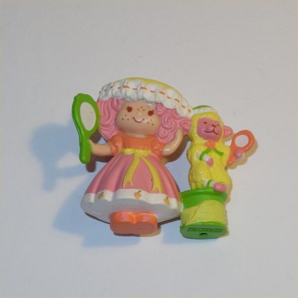 Strawberry Shortcake: 1984 Peach Blush with Melonie Belle PVC Figurine