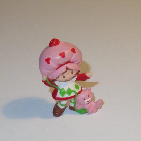 Strawberry Shortcake 1983 Strawberry Shortcake & Custard PVC Figurine