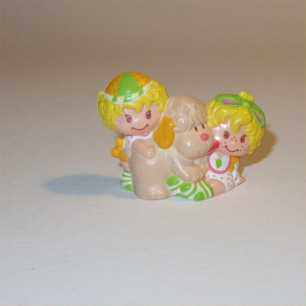 Strawberry Shortcake 1983 Lem & Ada with Sugar Woofer PVC Figurine