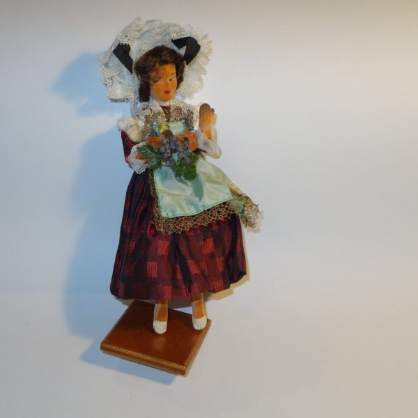 Plastic Doll Female French Costume Troyenne c1970