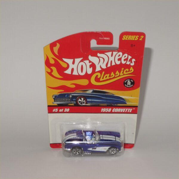 Hot Wheels No 3 of 30 Classic 65 Chevrolet Corvette Open Top Blue
