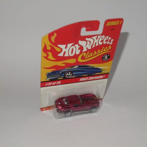 Hot Wheels No 12 of 25 Classic 63 Chevrolet Corvette Closed Top Purple