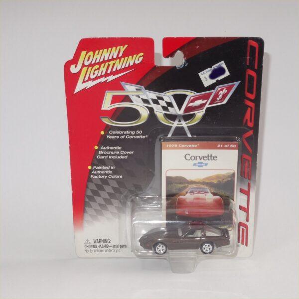 Johnny Lightning 1979 Chevrolet Corvette Dark Brown Hard Top #21 of 50