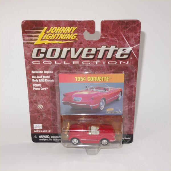 Johnny Lightning 1954 Chevrolet Corvette Coupe Sportsman Red Open Top