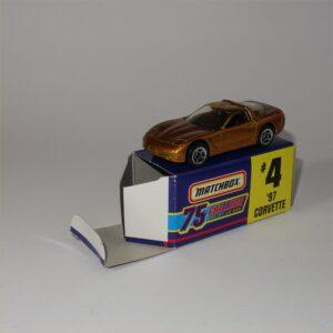 Matchbox '97 Chevrolet Corvette Hard Top Gold