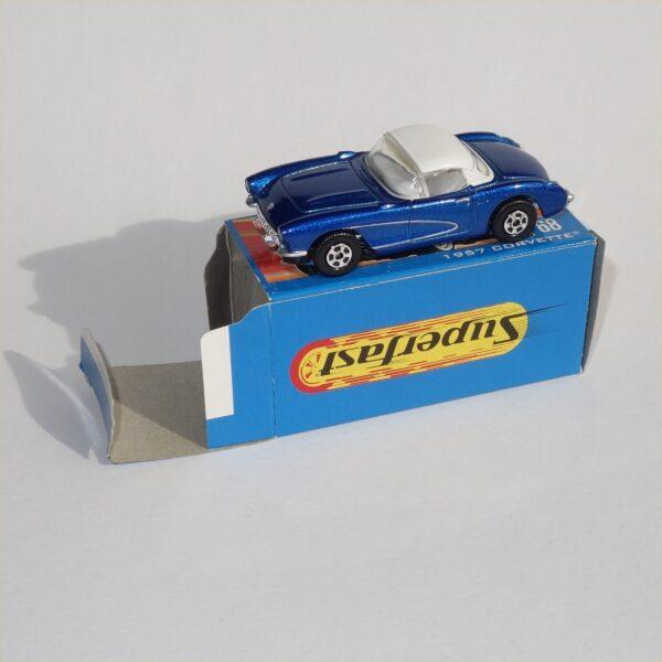 Matchbox Superfast #68 1957 Chevrolet Corvette Hard Top Blue