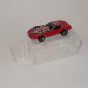 Hot Wheels Flying Colors Corvette Stingray Red 1977 Black Wheels