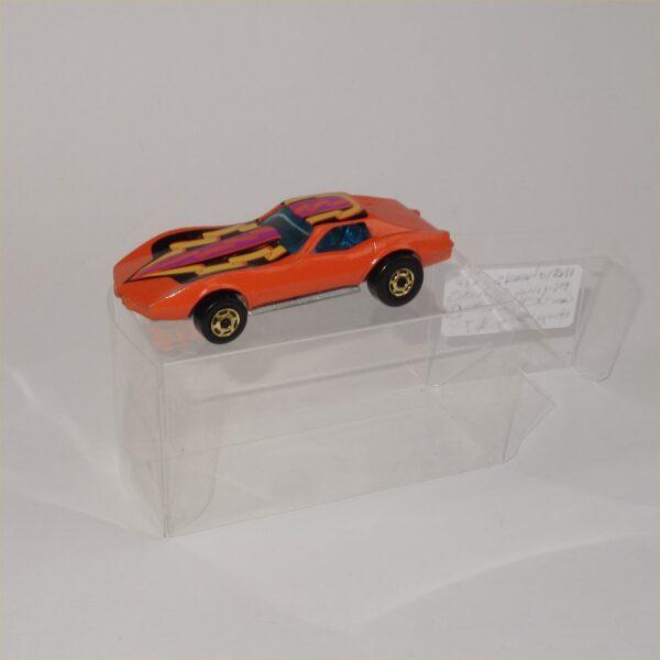 Hot Wheels Flying Colors Corvette Stingray Orange 1980 Gold Wheels
