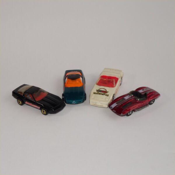 Hotwheels Corvettes Selection x 4 Loose Models Lot#1040