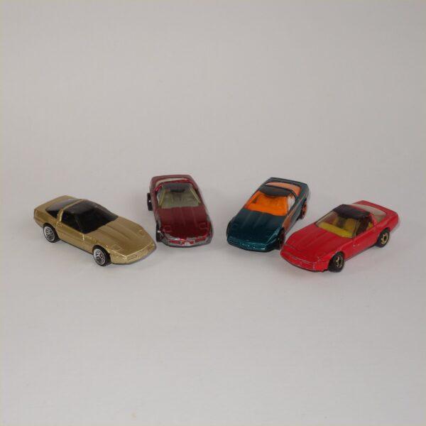 Hotwheels Corvettes Selection x 4 Loose Models Lot#1044