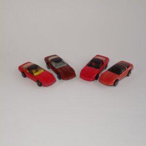 Hotwheels Corvettes Selection x 4 Loose Models Lot#1045