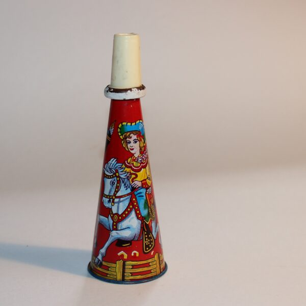 Vintage Japan Hooter Whistle Party Favour Show Bag Cowgirl Image