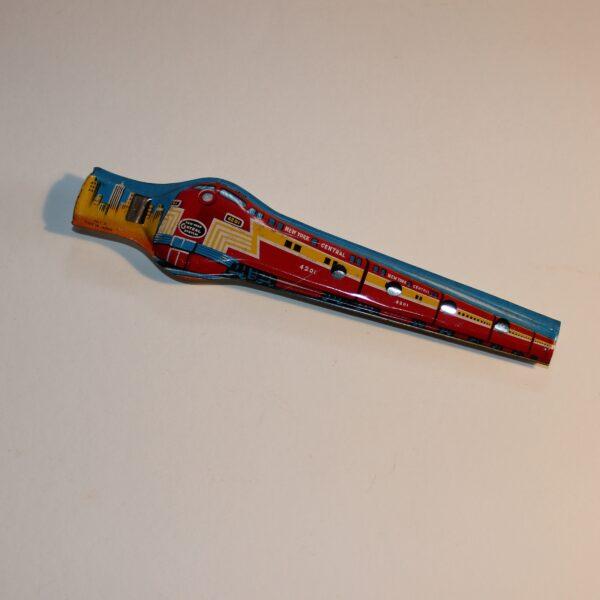 Vintage Japan Flute Whistle Party Favour Show Bag New York Train Scene