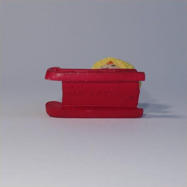 Strawberry Shortcake 1982 Apple Dumplin on Sled PVC Figurine