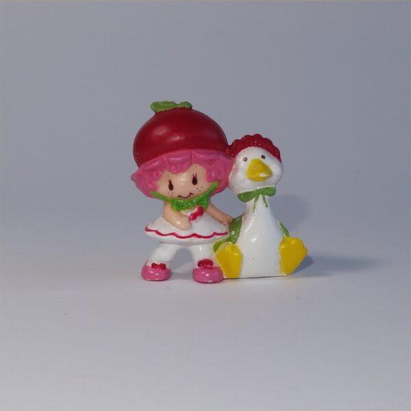 Strawberry Shortcake 1982 Cherry Cuddler with Gooseberry Gander PVC Figurine
