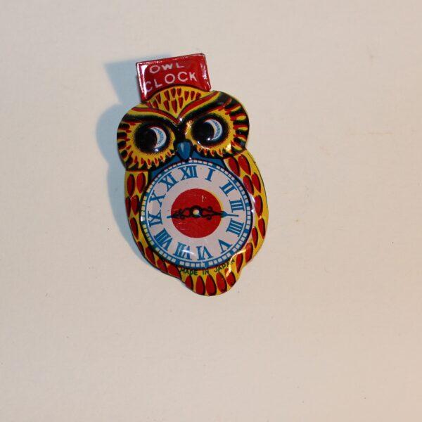Vintage Japan Clicker Party Favour Show Bag Owl Clock Image