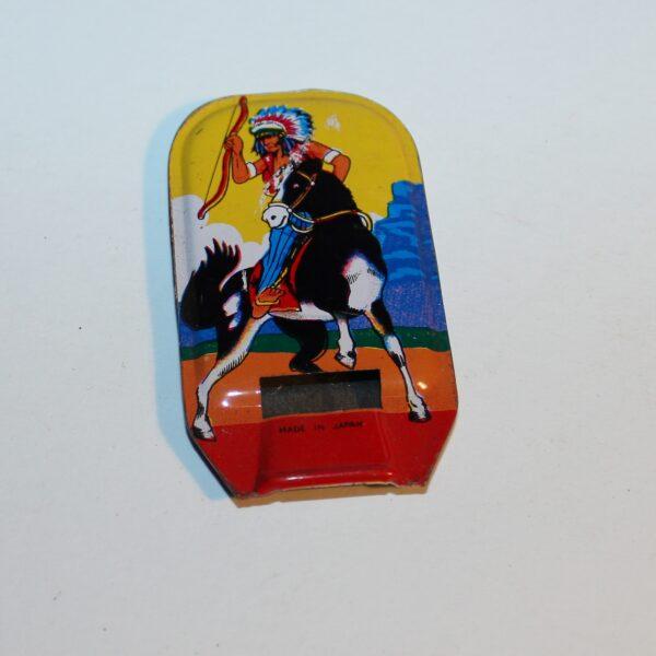 Vintage Japan Whistle Party Favour Show Bag American Indian on Horseback Image