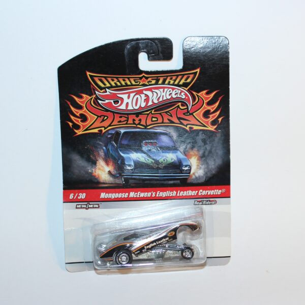 Hot Wheels 2009 #6 of 30 Mongoose McEwen's English Leather Corvette Funny Car