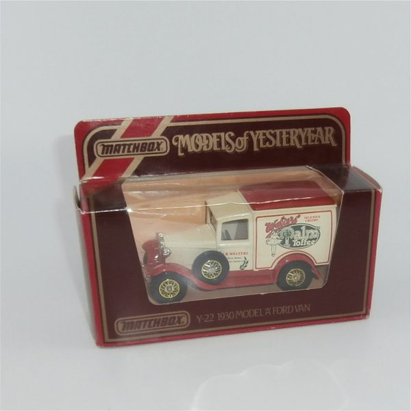 Matchbox Models of Yesteryear Y-22 1930 Model A Ford Van Walters Palm Toffee