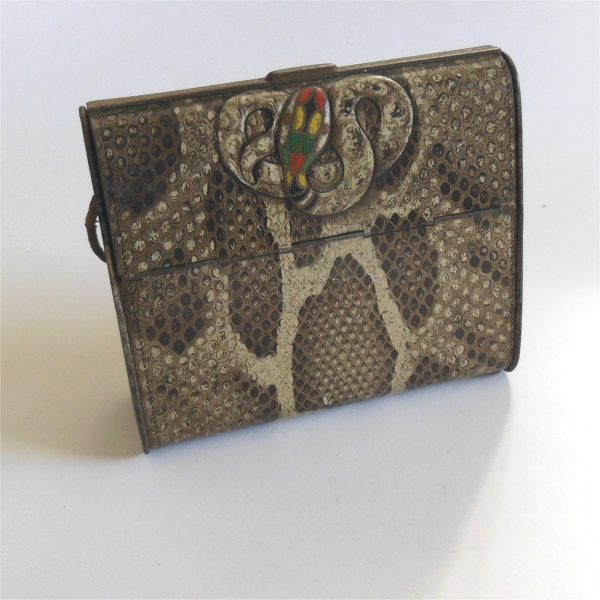 Huntley Palmers Biscuit Tin c1900's Snake Motif and Snake Skin Lithograph