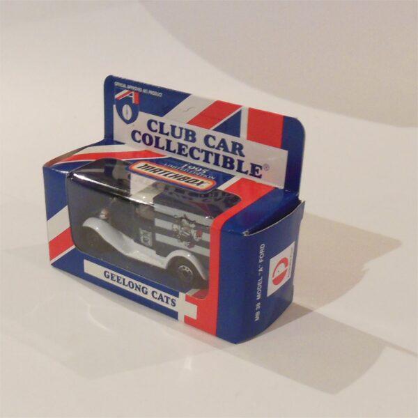 Matchbox 1995 AFL Football Club Car Geelong Cats Model A Ford