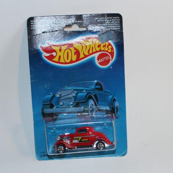 Hot Wheels 1987 Ford 3 Window '34 Canadian Card Issue #1473 MoC