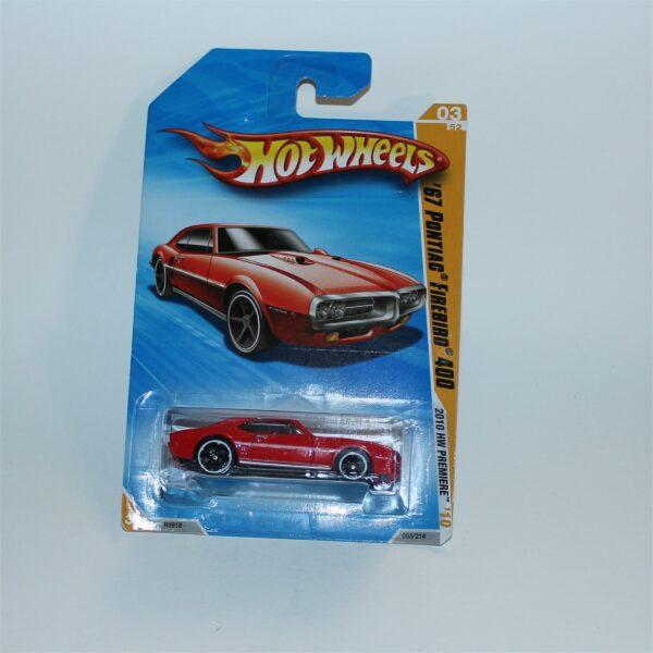 Hot Wheels 2010 Pontiac '67 Firebird 400 03/214 MoC