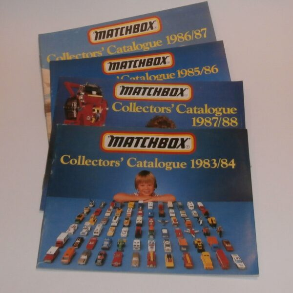 Matchbox Toys Catalogs 1984 1985 1986 1987 Group of 4 Booklets