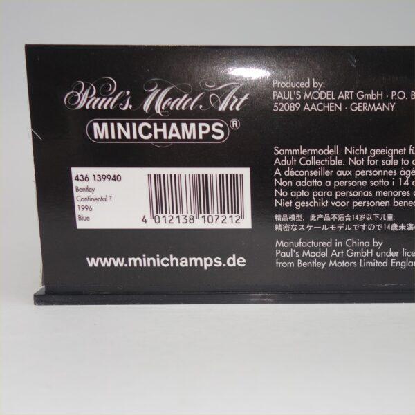 Minichamps 1996 Bentley Continental T Blue
