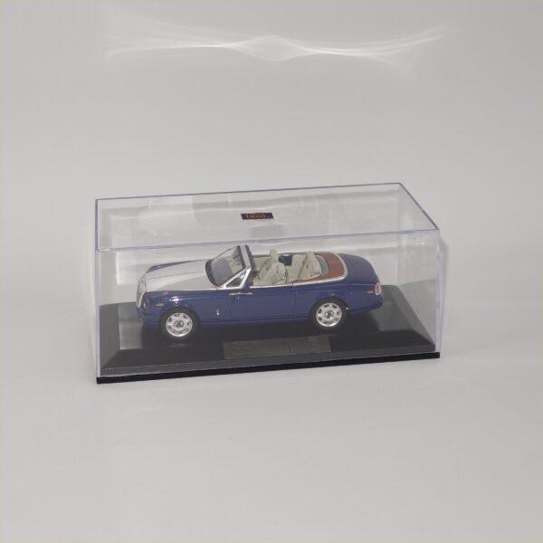 IXO Models 187560 Rolls Royce Phantom Drophead Coupe Blue Silver