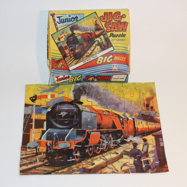 1960's Tower Press Junior Jigsaw The Boat Train Child's Large Pieces
