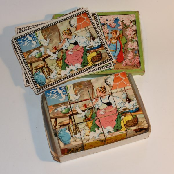 1950 Hermann Eichhorn Lungers Hausen West German Wooden Fairy Tale Scenes Block Puzzle
