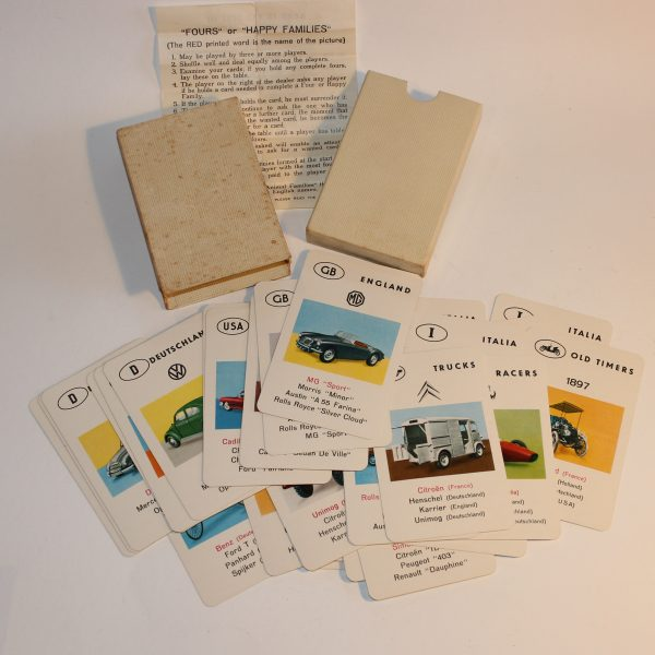 1960's Car Families Card Game Piatnik Austria