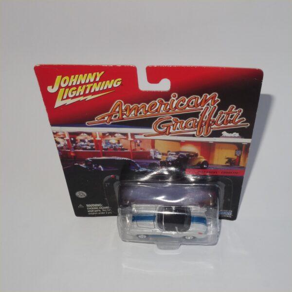 Johnny Lightning American Graffiti 1957 Chevrolet Corvette White Closed Top