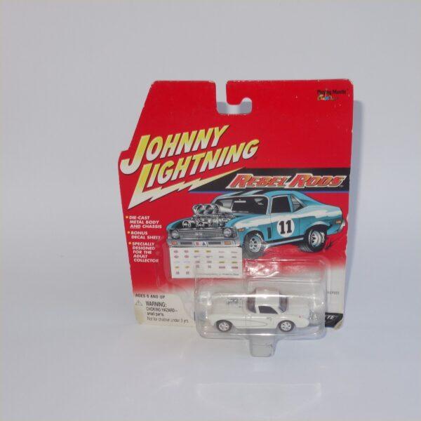 Johnny Lightning Rebel Rods 1957 Chevrolet Corvette White Closed Top