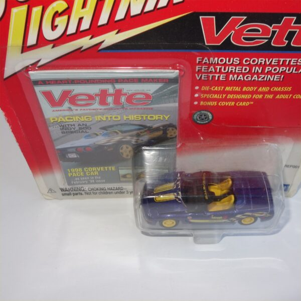 Johnny Lightning 1998 Chevrolet Corvette Pace Car Purple Open Top
