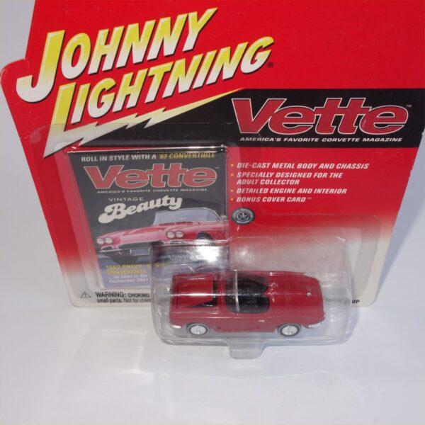 Johnny Lightning 1962 Chevrolet Corvette Vintage Beauty Red Open Top