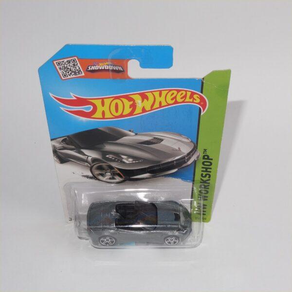 Hotwheels Issued 2013 HW Workshop 14 Chevrolet Corvette Stingray Silver