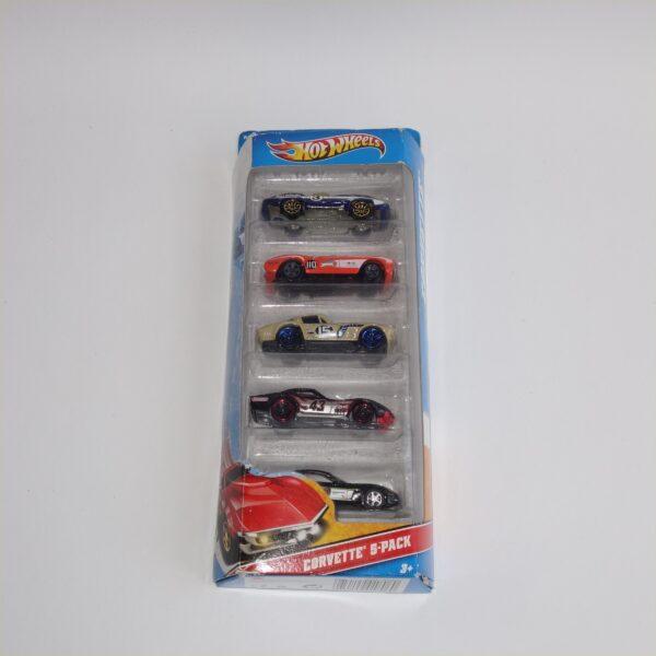 Hotwheels Issued 2011 Gift Set of 5 Chevrolet Corvettes
